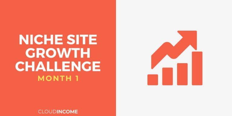 Niche site growth challenge month 1