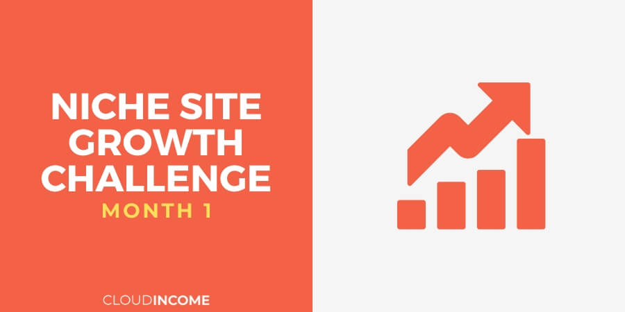 Niche site growth challenge month 1