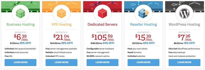 InMotion Web Hosting Options