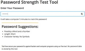 Password Strength Test Tool