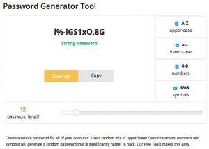 Secure Password Generator Tool