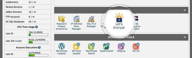 SiteGround Free SSL LetsEncrypt