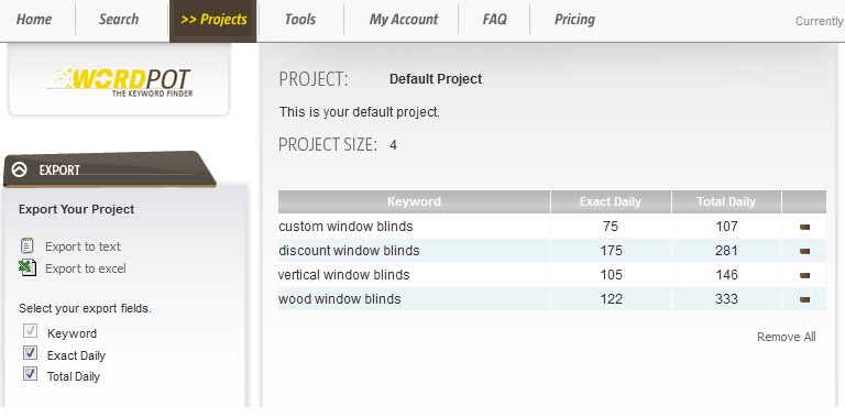 WordPot - Project Results