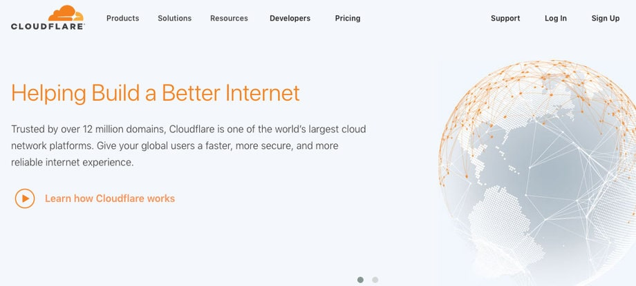 CloudFlare Content Delivery Network CDN