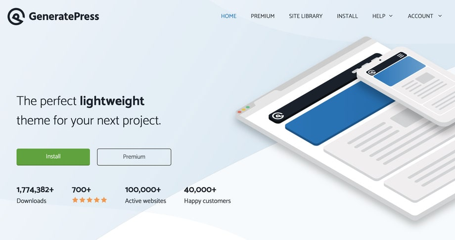 GeneratePres Llightweight Responsive WordPress Theme