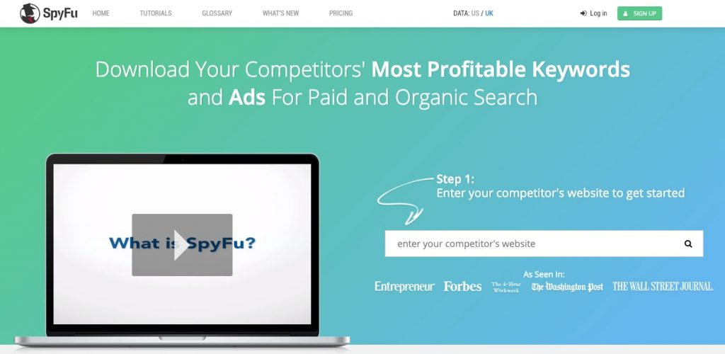SpyFu Competitor Keyword Research Tools AdWords PPC SEO