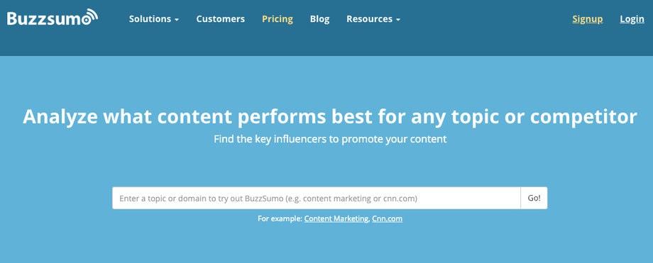 buzzsumo most shared content influencers