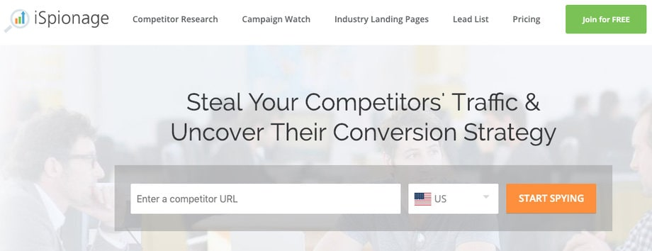 ispionage adwords seo keyword ad competitor research tool