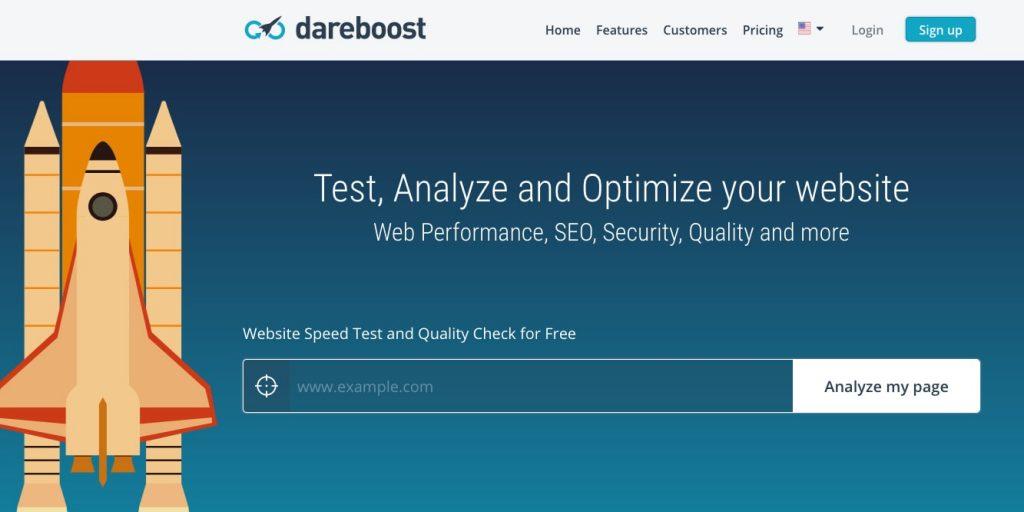dareboost website speed test-tool