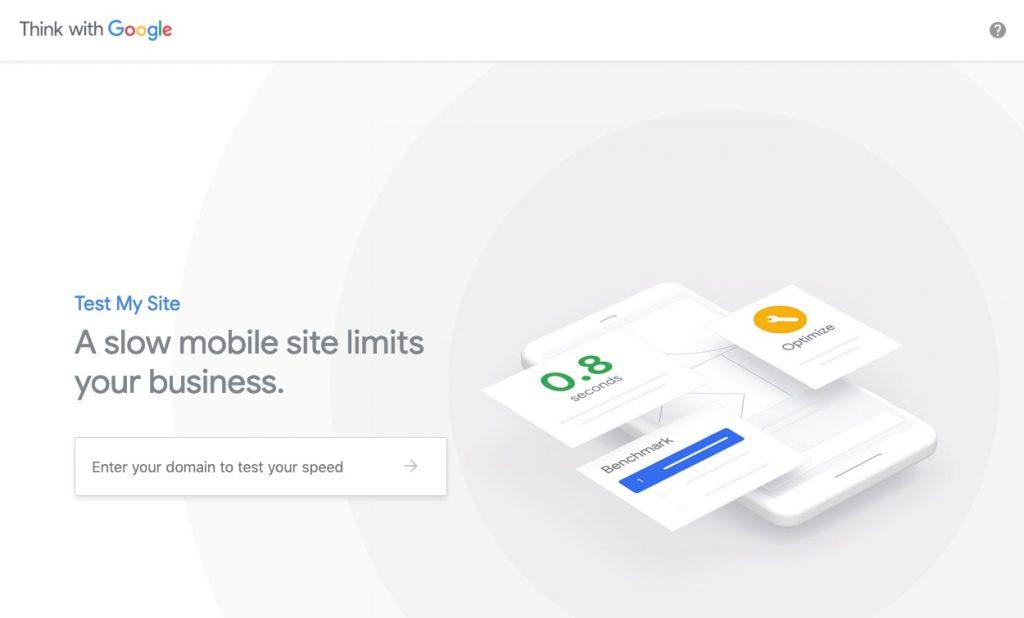 google test my site speed testing tool