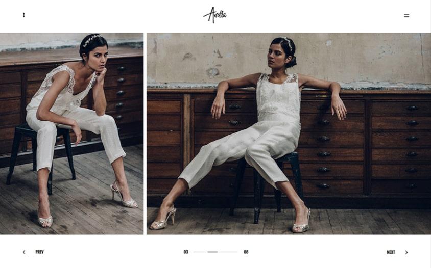 Andra Creative Photography WordPress Portfolio Theme