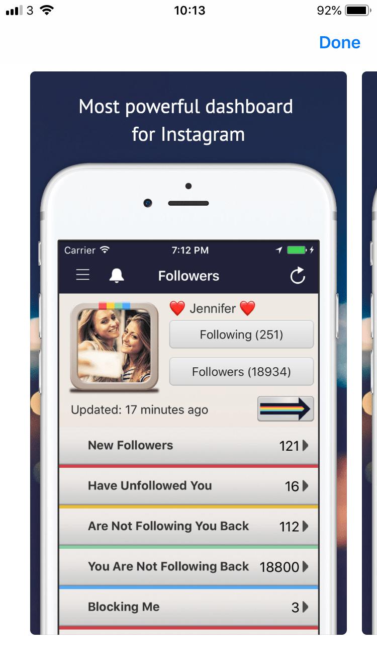 Followers Track Dashboard