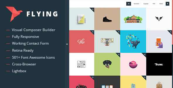 Flying Portfolio Theme Artist