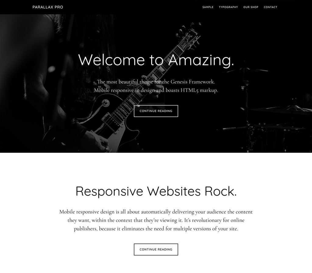 Parallax Pro Theme Studiopress