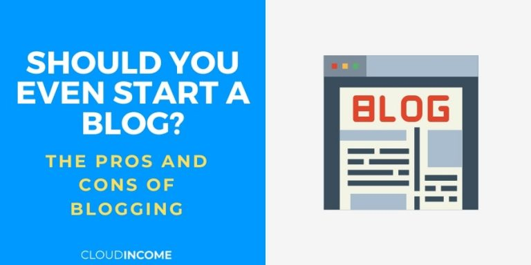pros and cons of blogging