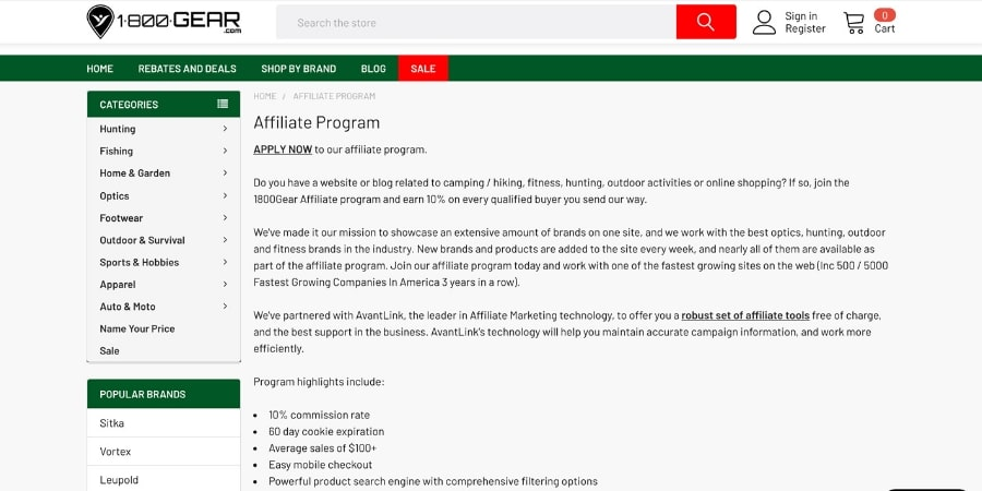 1800 gear affiliate program