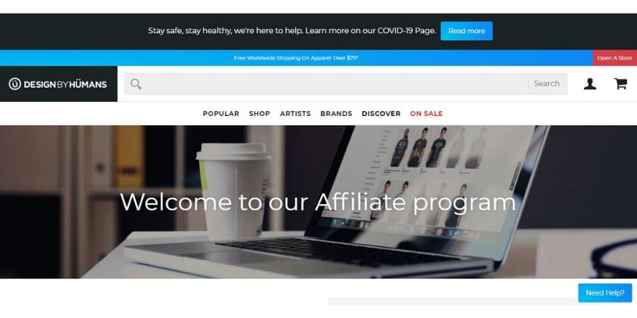 Design by humans affiliate program