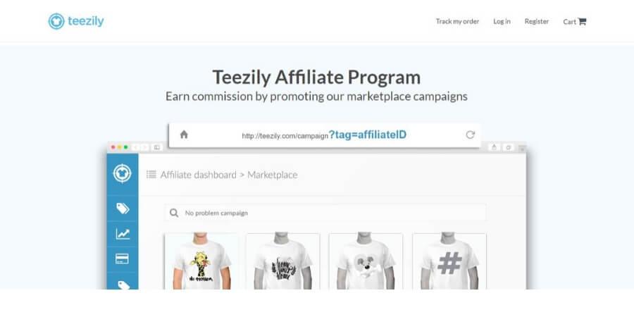 Teezily affiliate program