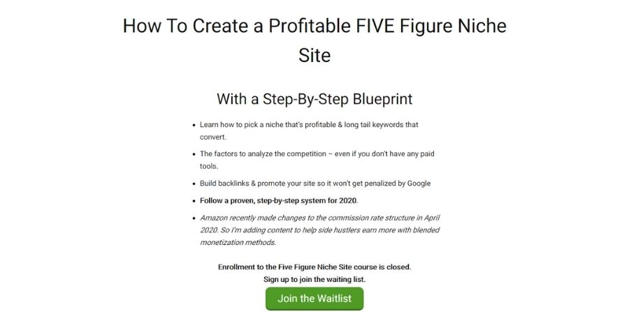 Five Figure Niche Site by Doug Cunnington